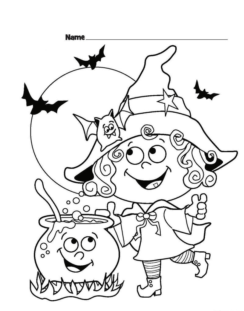 Printable Halloween Coloring Pages Witches