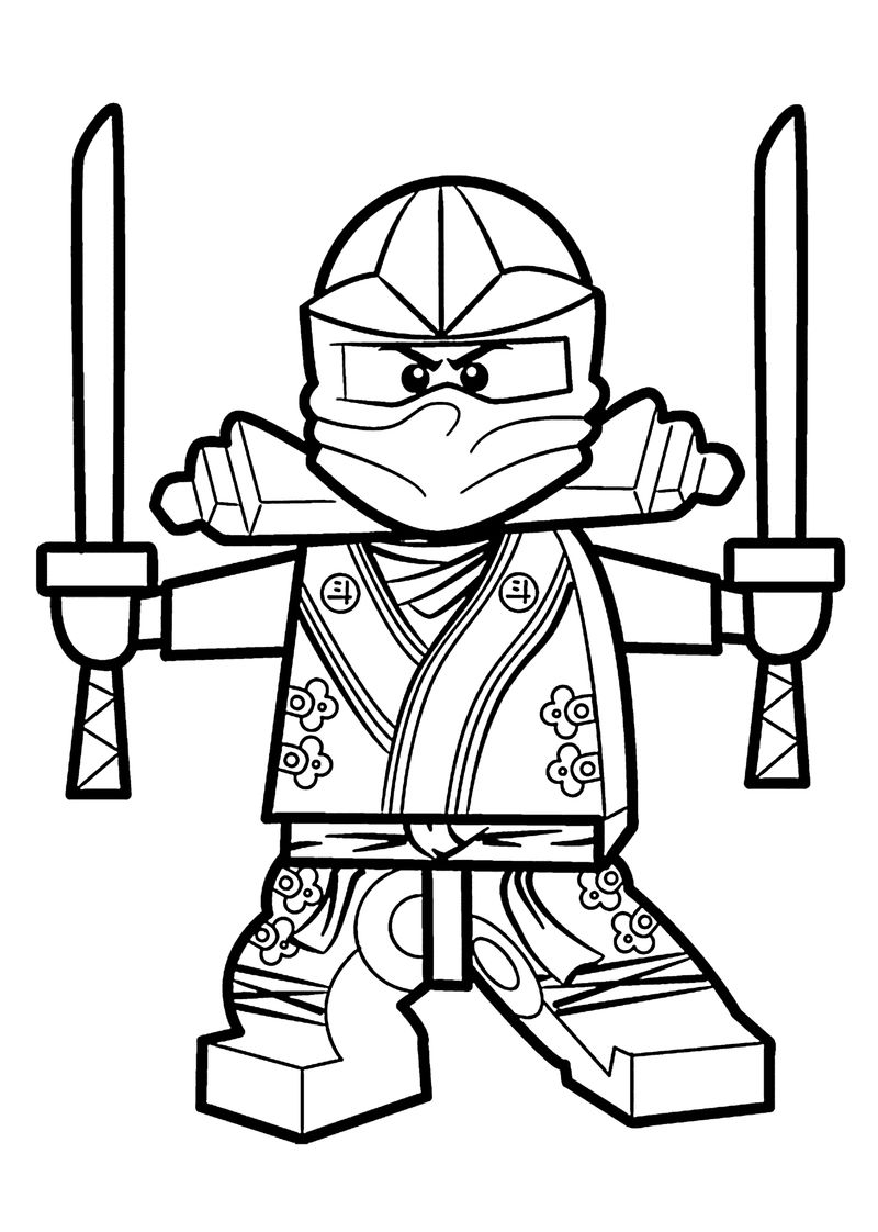 Printable Lego Ninjago Coloring Pages 2