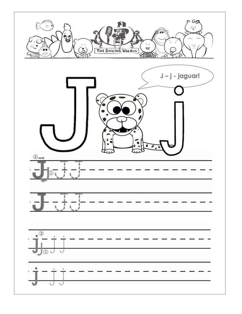 Printable Letter J Worksheets Jaguart 001