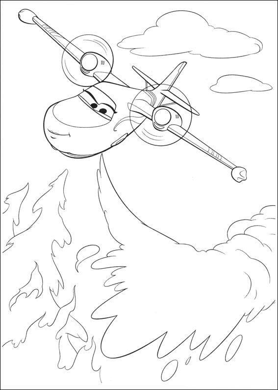 Printable Planes Coloring Pages