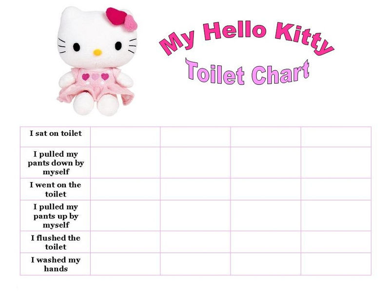 photo regarding Free Printable Potty Charts known as Printable Potty Chart Howdy Kitty Absolutely free COLORING Internet pages
