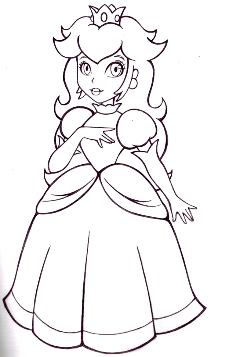 Printable Princess Peach Coloring Pages 001