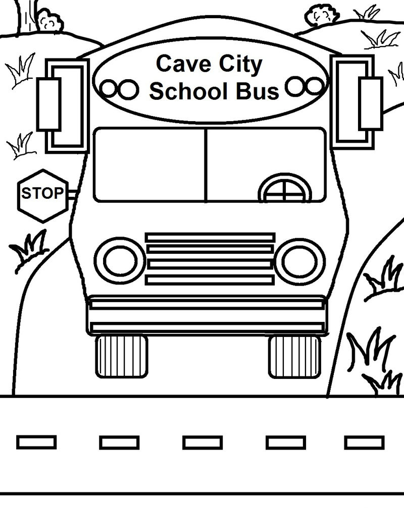 Printable School Bus Coloring Page 001