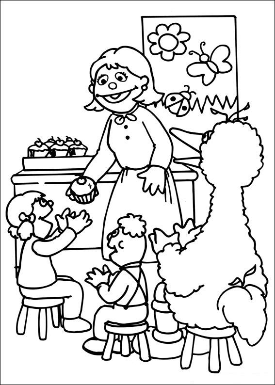 Printable Sesame Street Coloring Pages 001