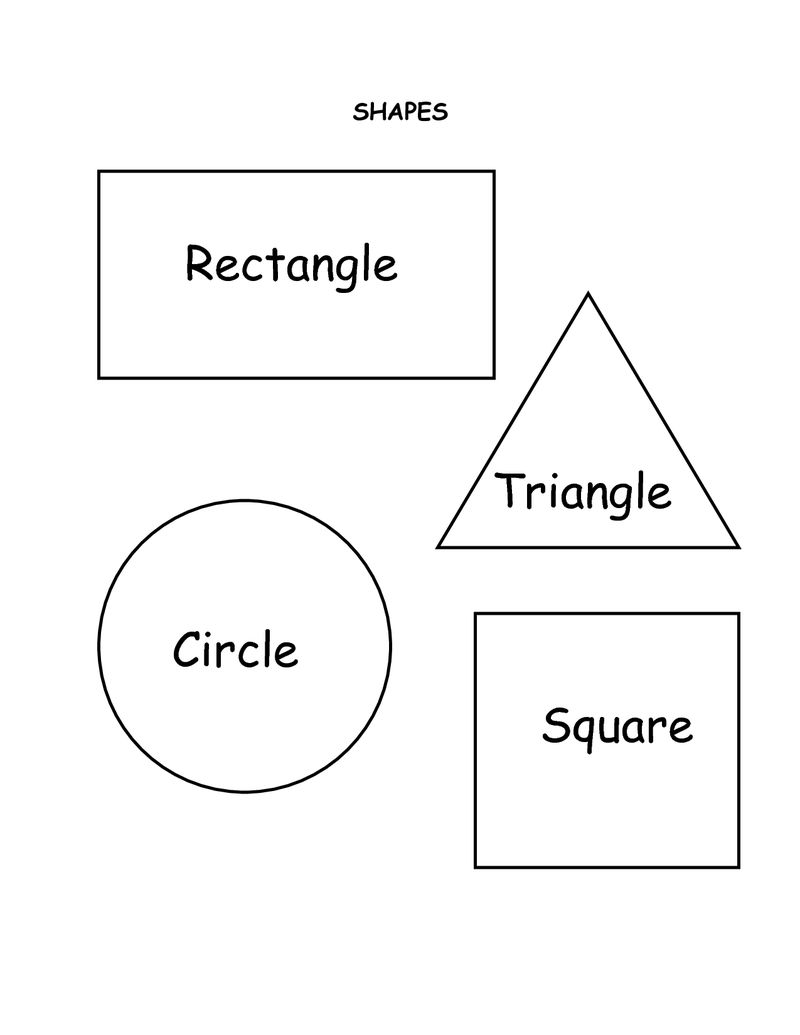 Printable Shapes Labeled