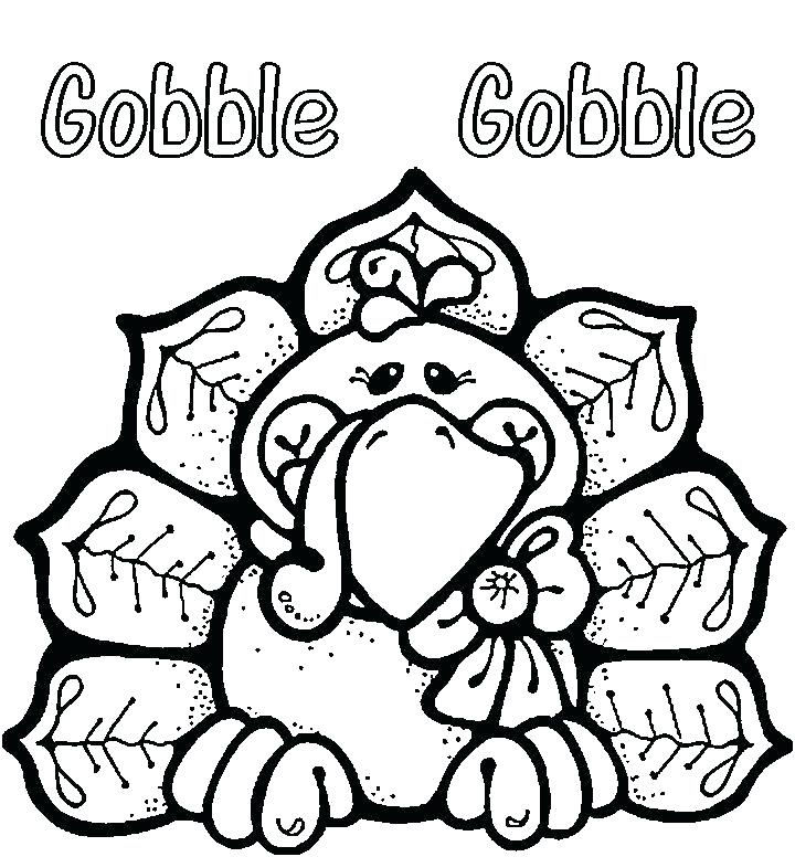 Printable Turkey November Coloring Pages