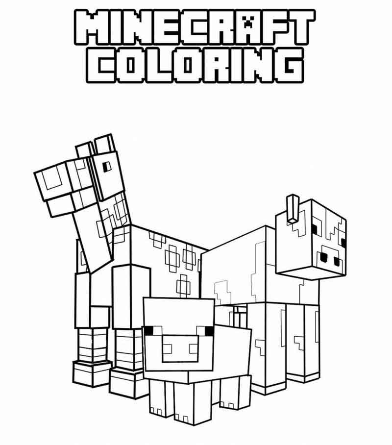 Printable Minecraft Coloring Pages 902x1024