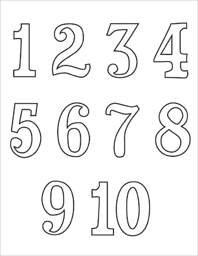 Printing Numbers 1 10 For Primary School 001