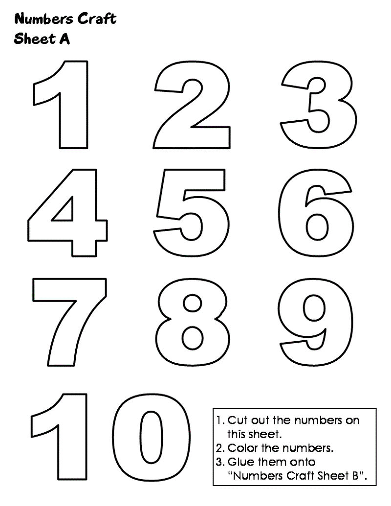 Printing Numbers 1 10 For School 001