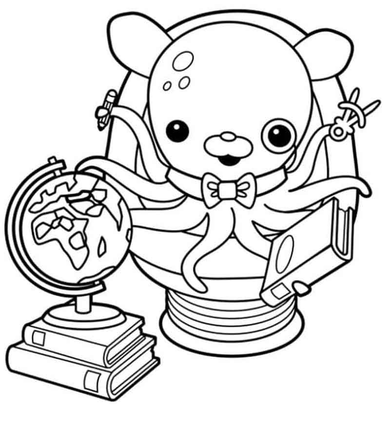 Professor Inkles Octonauts Coloring Pages