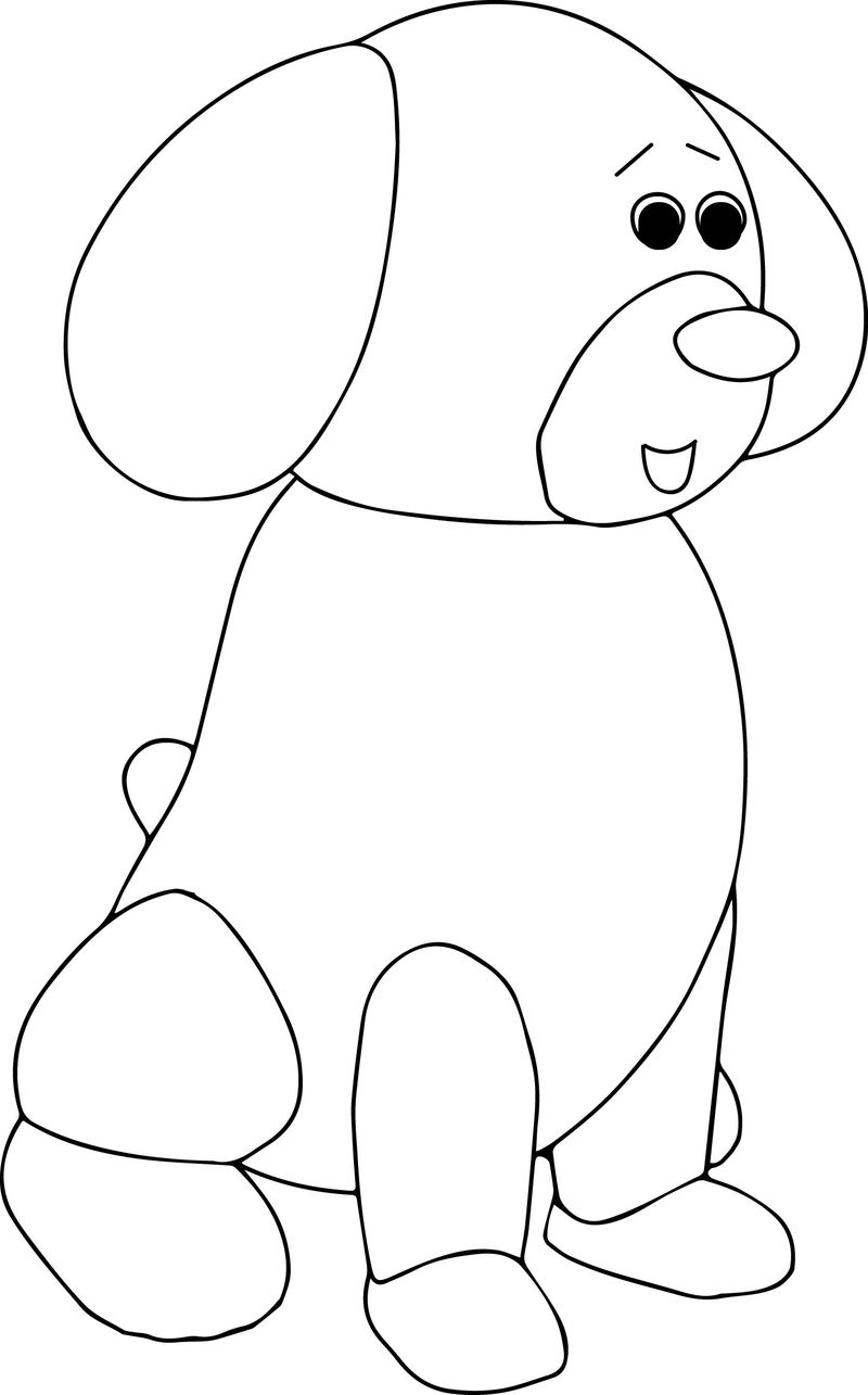 Puppy Coloring Pagedog Stay Sheet Color
