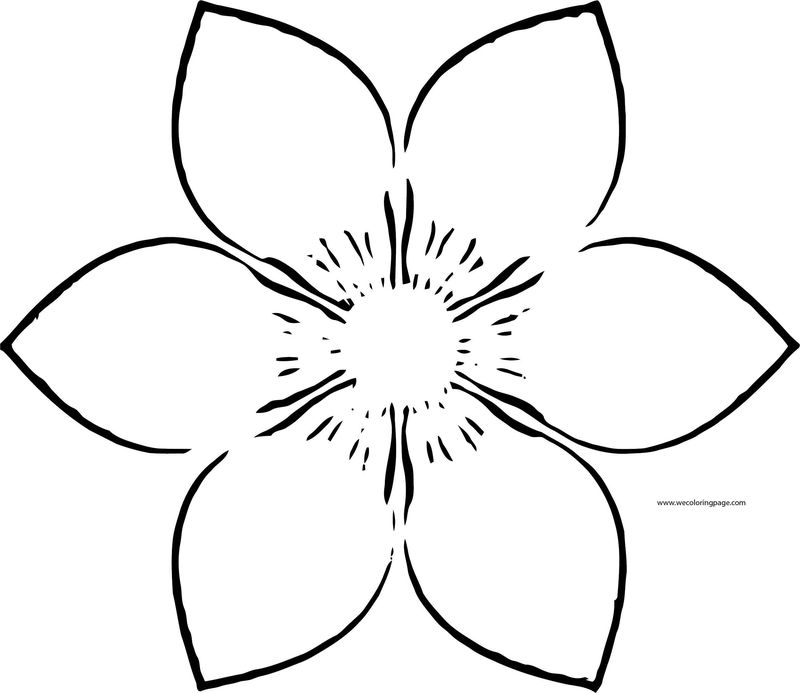 Purple Flower Coloring Page