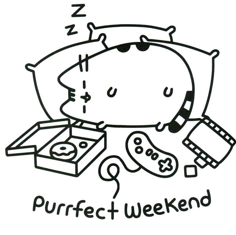 Pusheen Coloring Pages Sleepy Cat