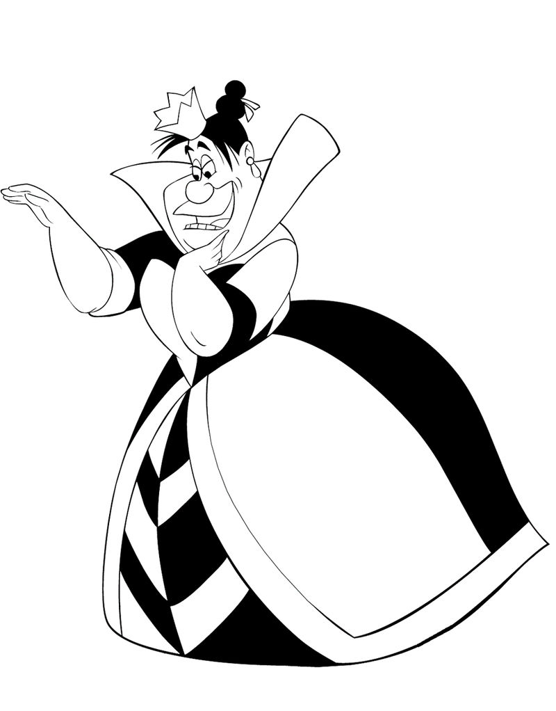 Queen Of Hearts From Alices Adventures In Wonderland Coloring Picture