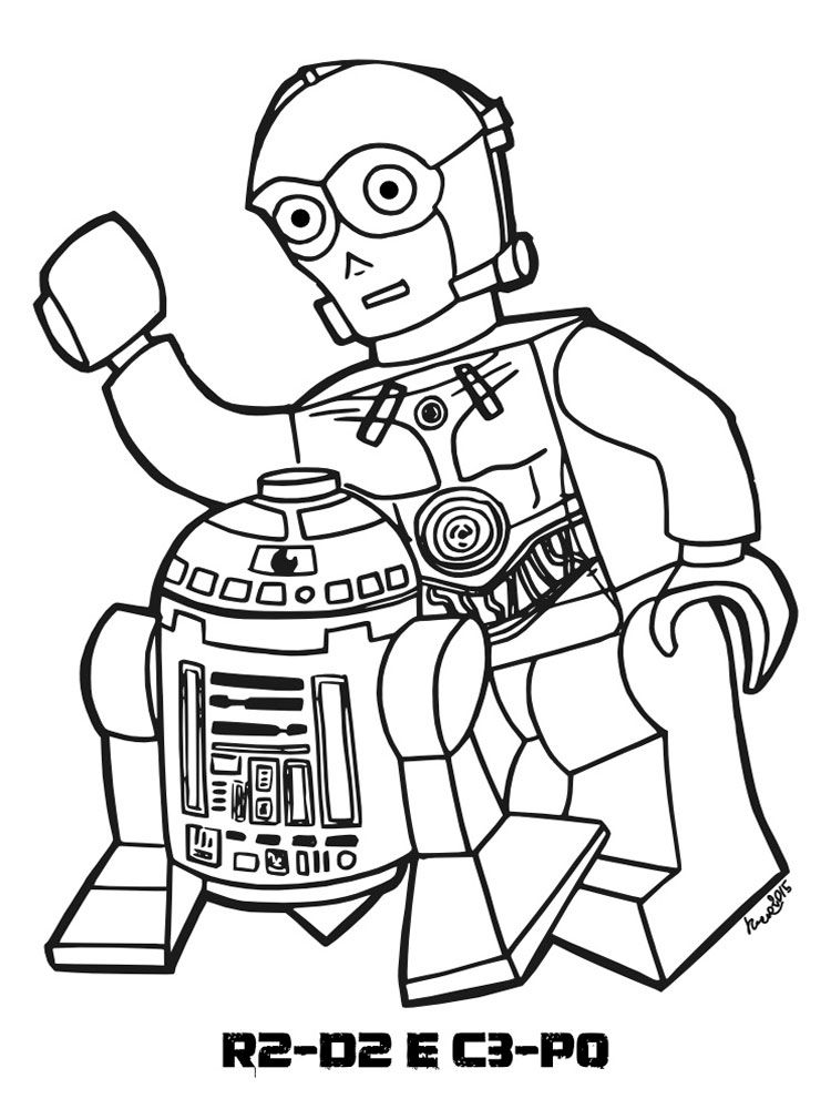 R2d2 C3po Lego Star Wars Coloring Pages
