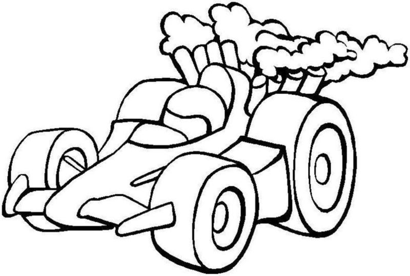 Race car color pages for kids