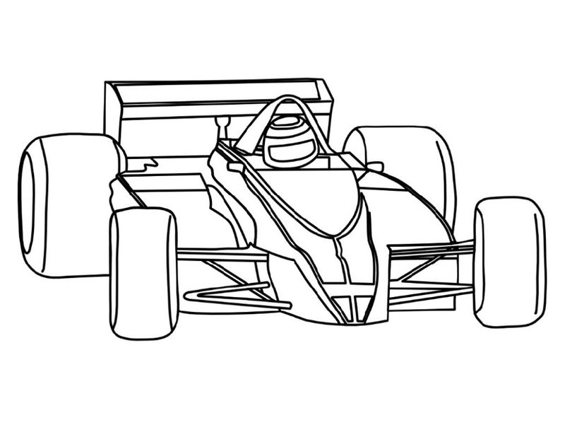 Race Car Color Pages Formula1