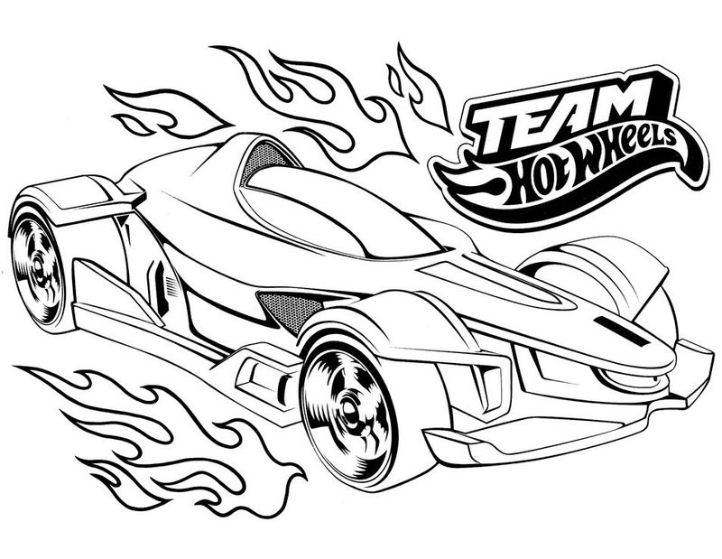Racecar Coloring Pages Hotwheels