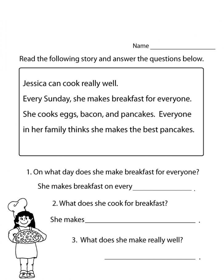 Read And Answer 1st Grade Worksheets