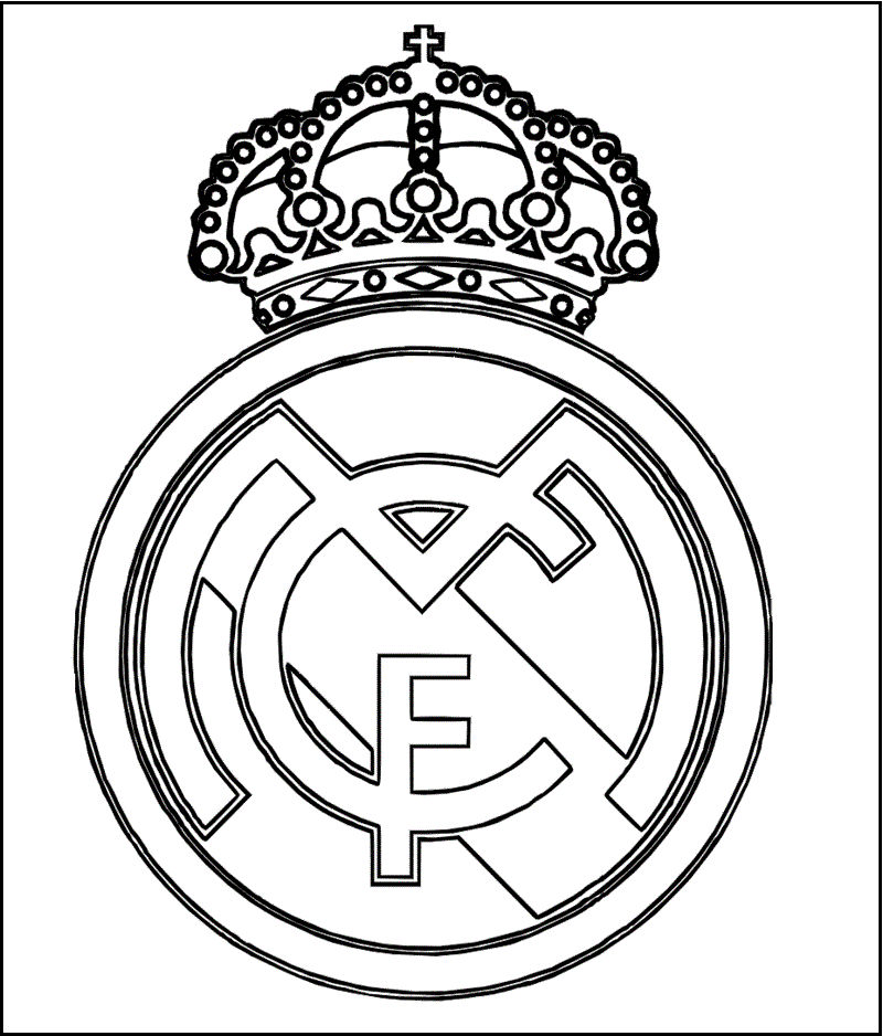 Real Madrid Logo Coloring And Activity Page