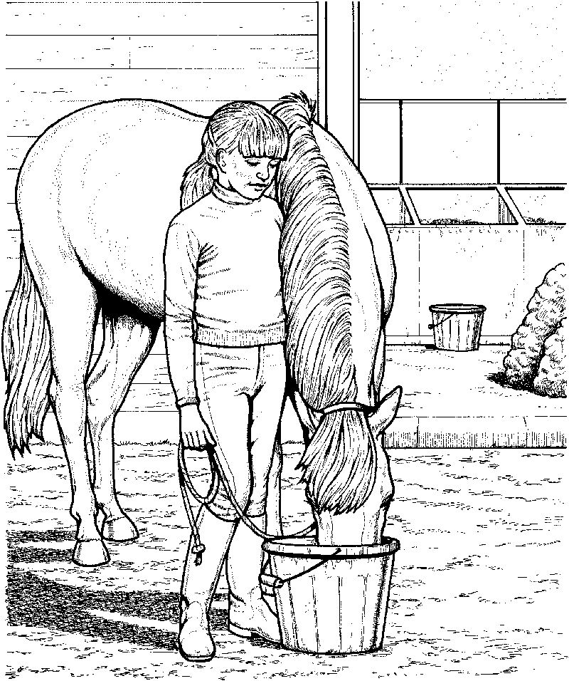 Realistic Horse Coloring Page 1