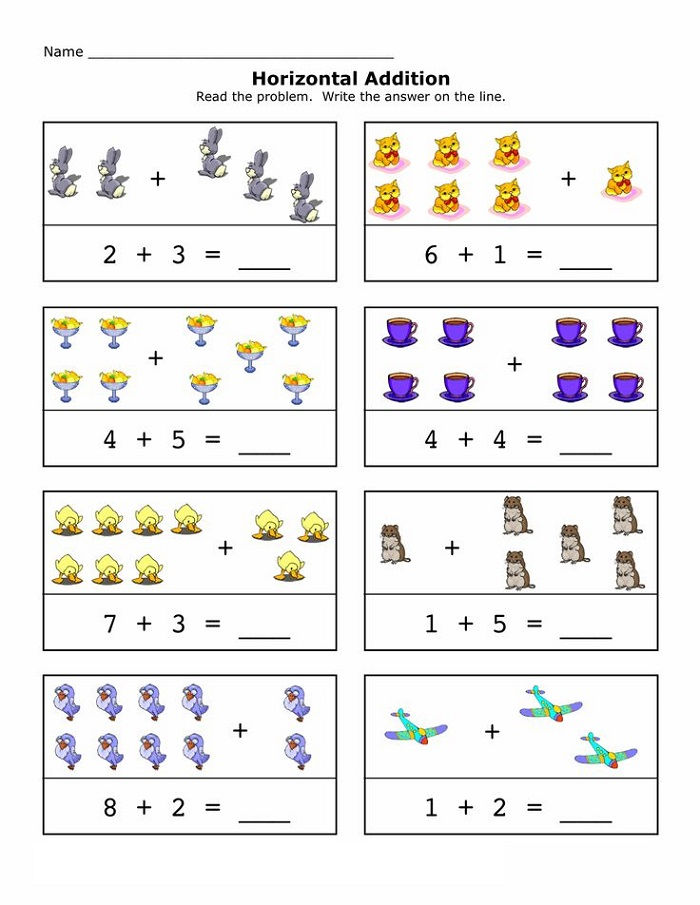 Reception Maths Worksheets Printable Horizontal