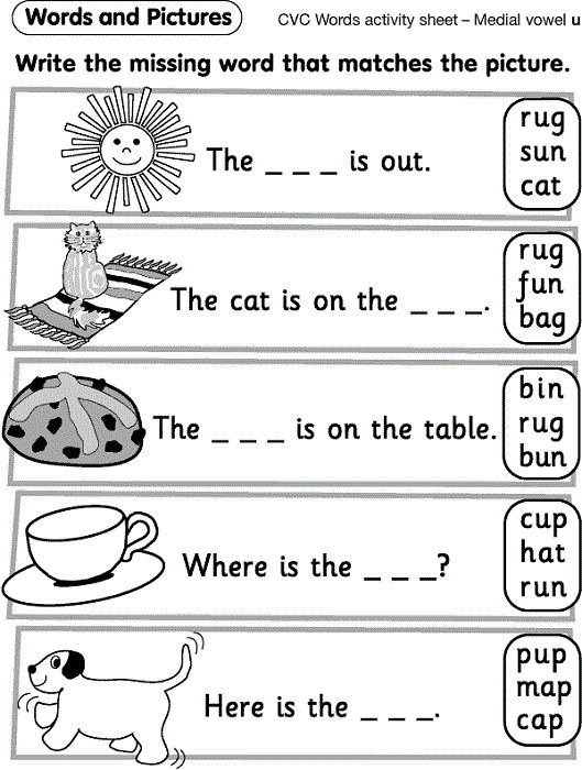 Reception Worksheets Pictures