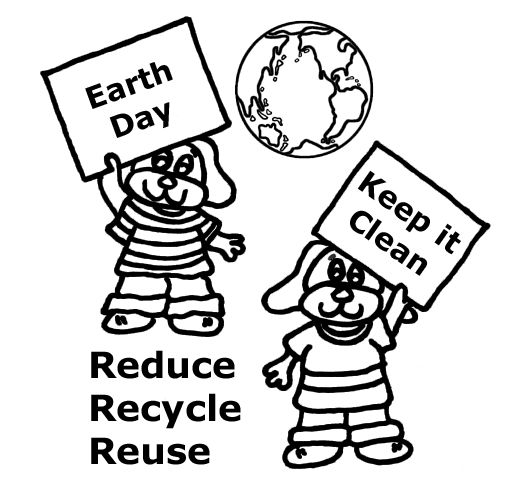 Recycle Earth Day Coloring Pages