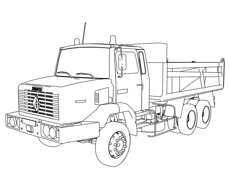 Renault C280 Truck Coloring Page