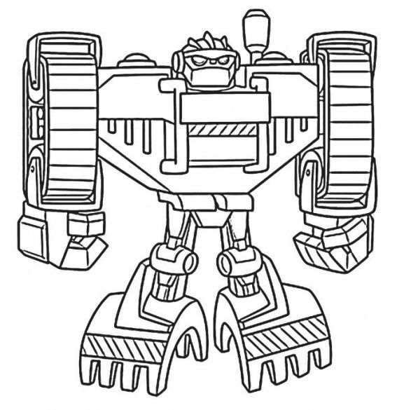 Rescue Bots Animation Transformers Coloring Sheets