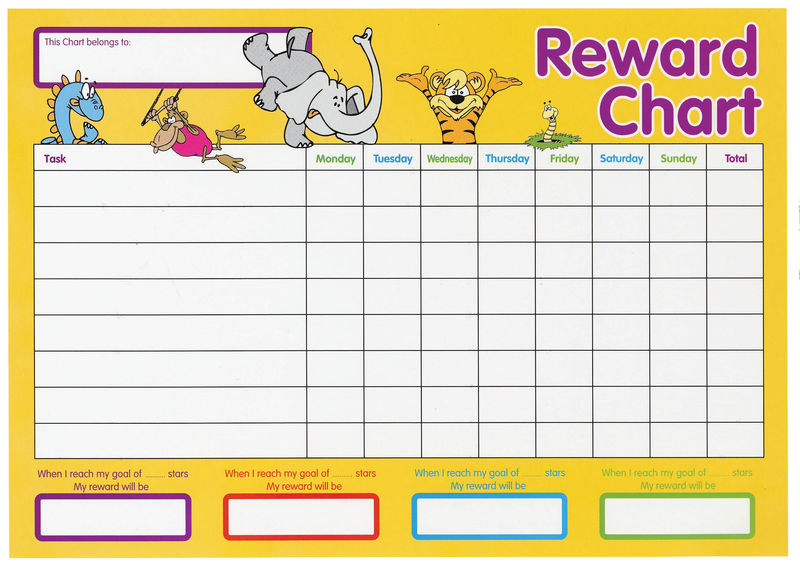 Reward Chart For Kids Colorful 001