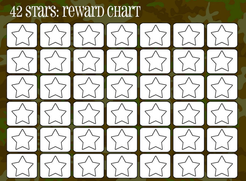 Reward Chart For Kids With Stars 001