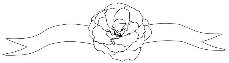 Ribbon Flower Coloring Page