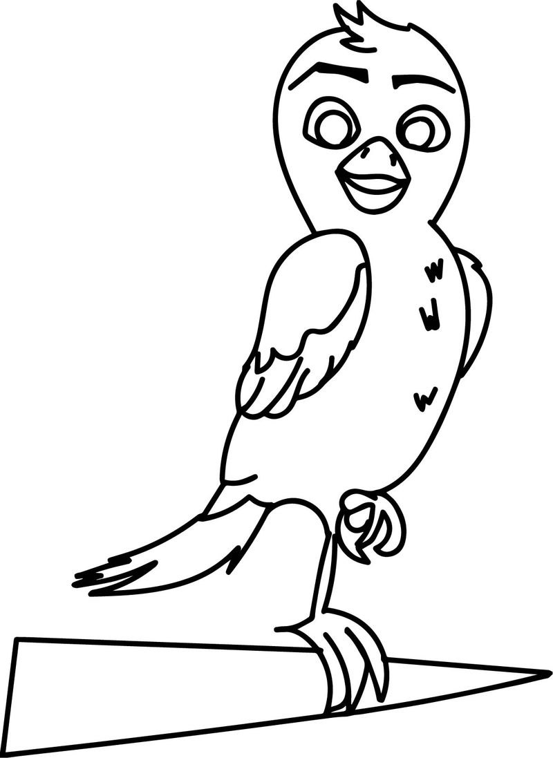 Richard The Stork Bird Coloring Page