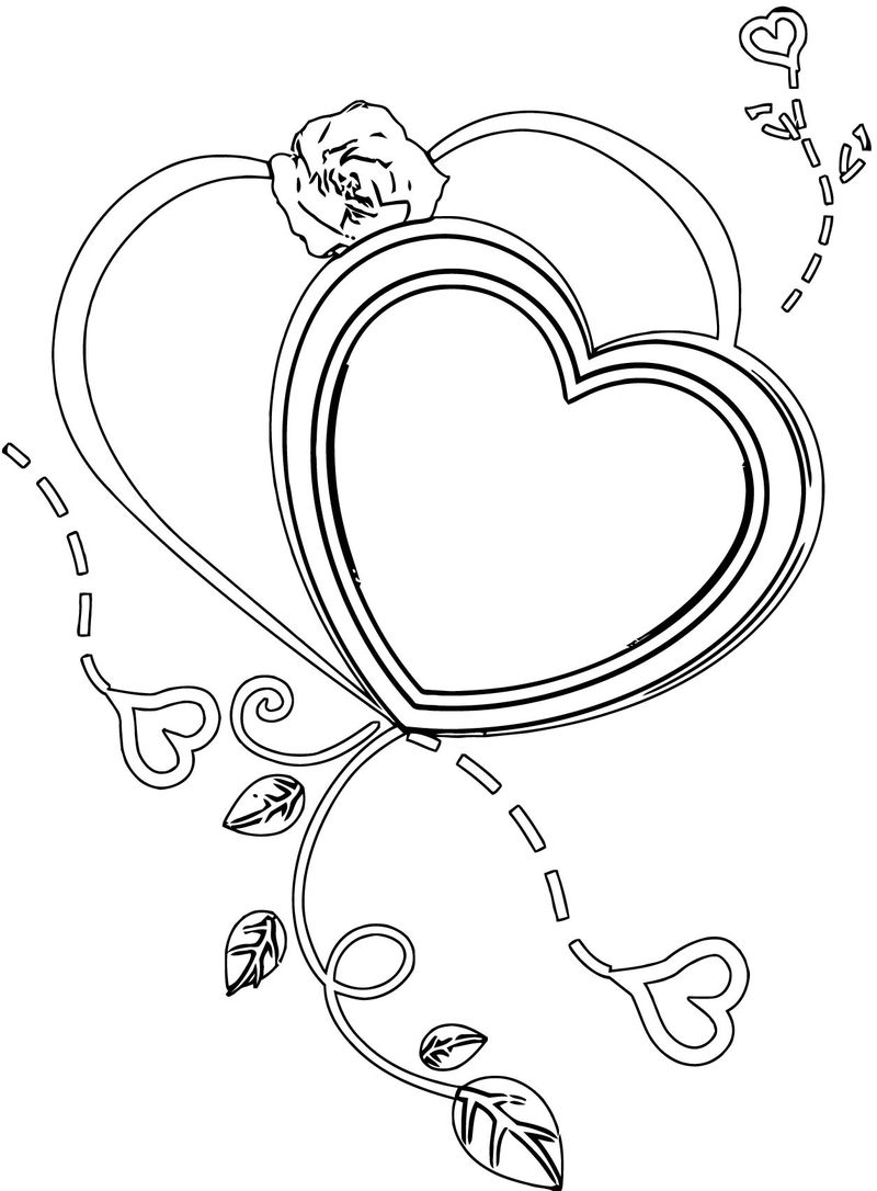 Rose Flower Coloring Page 071