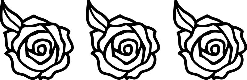 Rose Flower Coloring Page 110