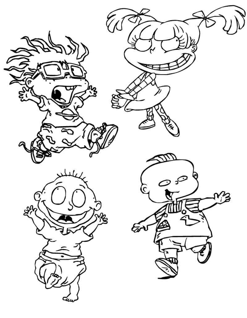 Rugrats Coloring Pages Photos