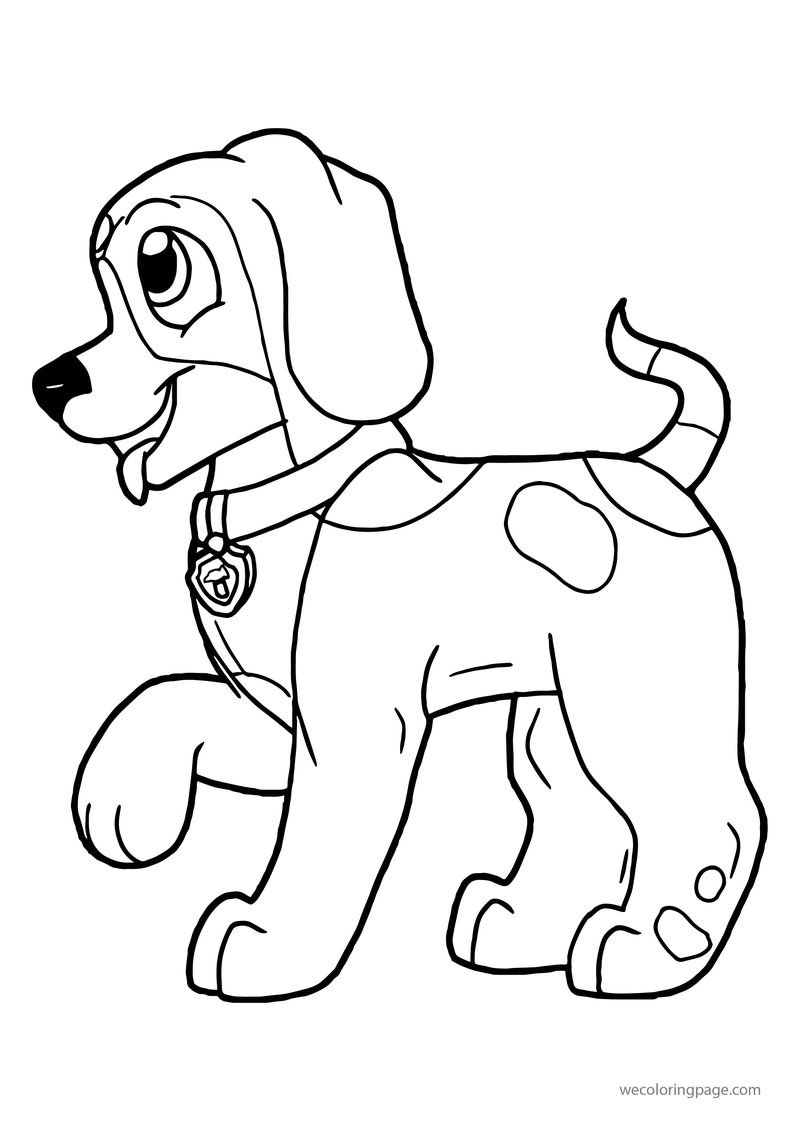 Rusty Full Body Dog Coloring Page