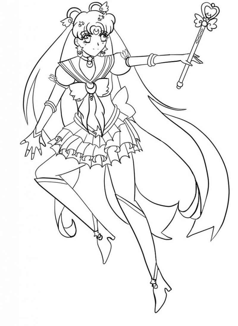 Sailor Moon Coloring Pages Free For Kids
