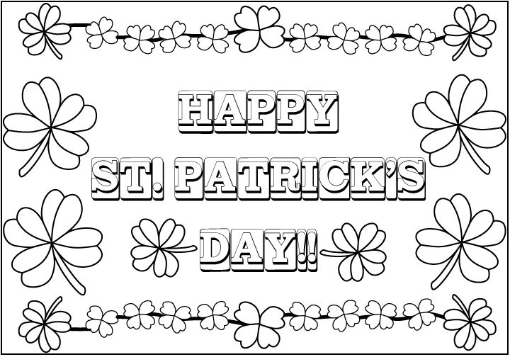 Saint Patricks Day Coloring Page