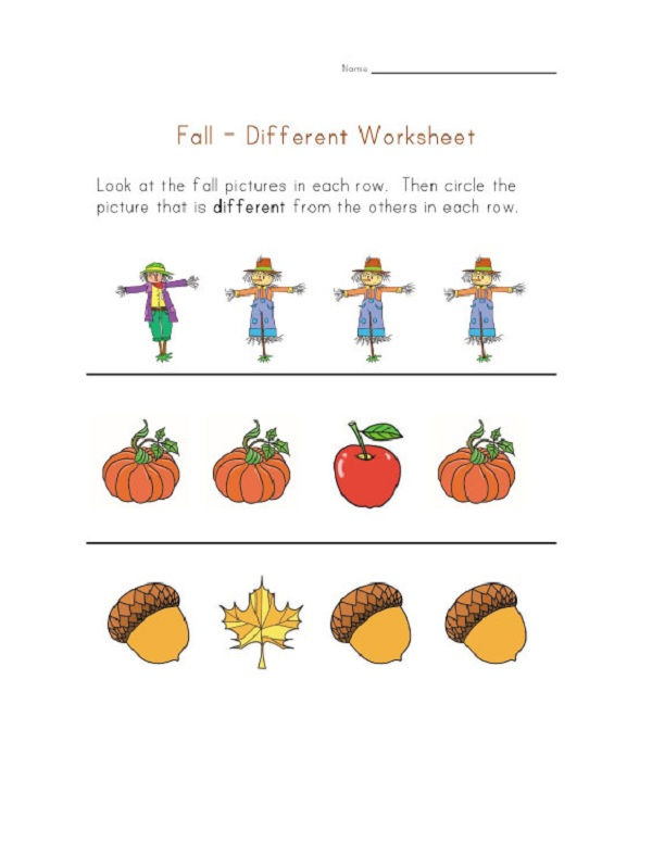 Same And Different Activities Printable 001