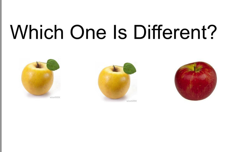 Same And Different Fruits