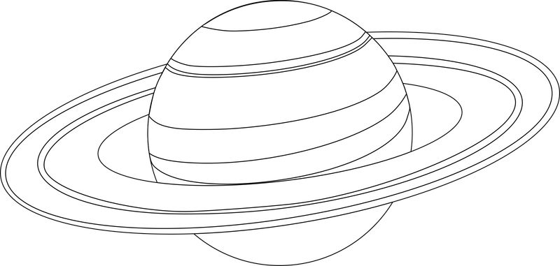 Saturn Planet Coloring Pages