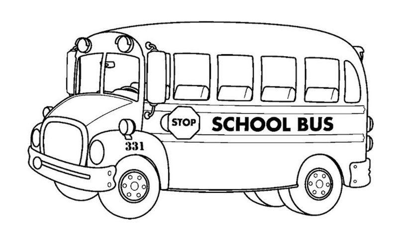 School Bus Coloring Pages 001