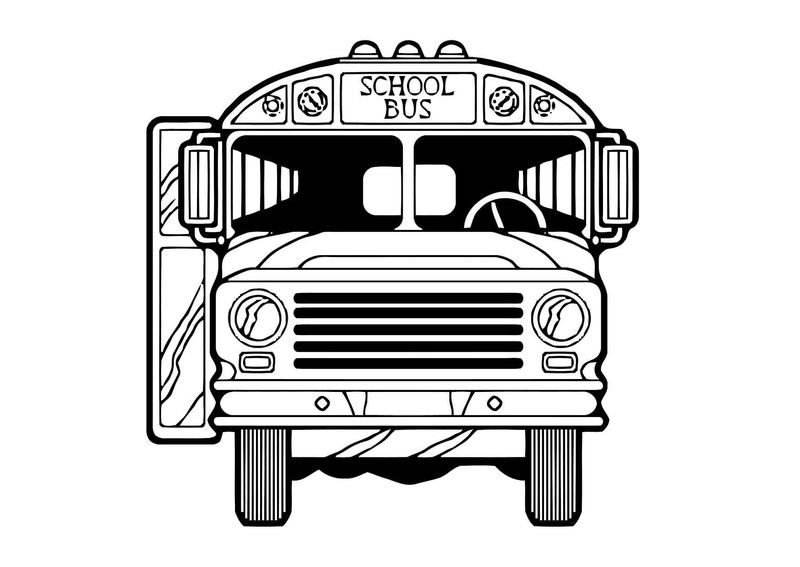 School Bus Coloring Pages For Kids 001