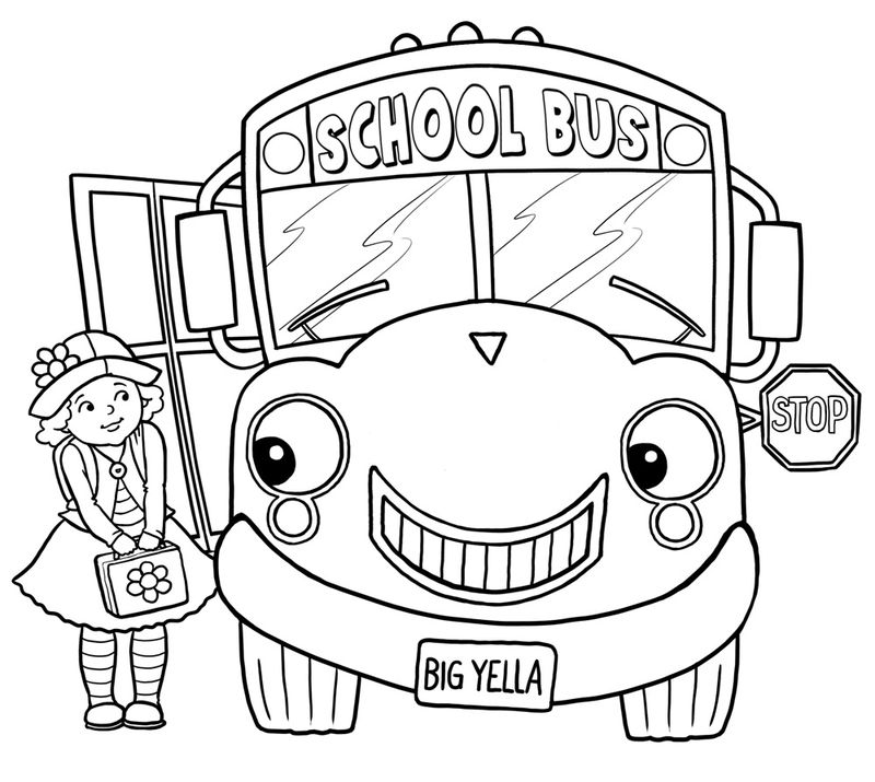 School Bus Coloring Pages Pictures 001