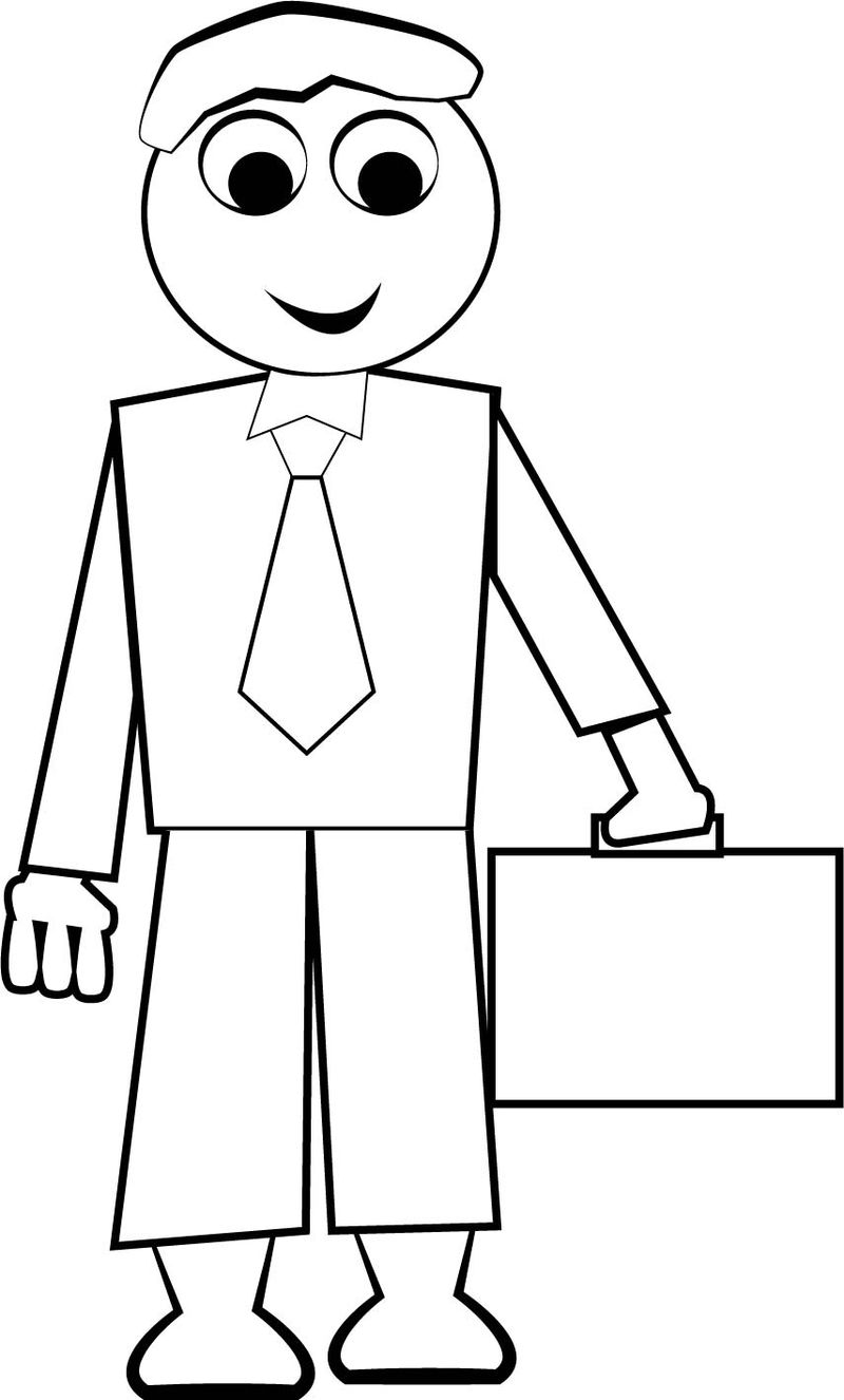 School Children Coloring Page