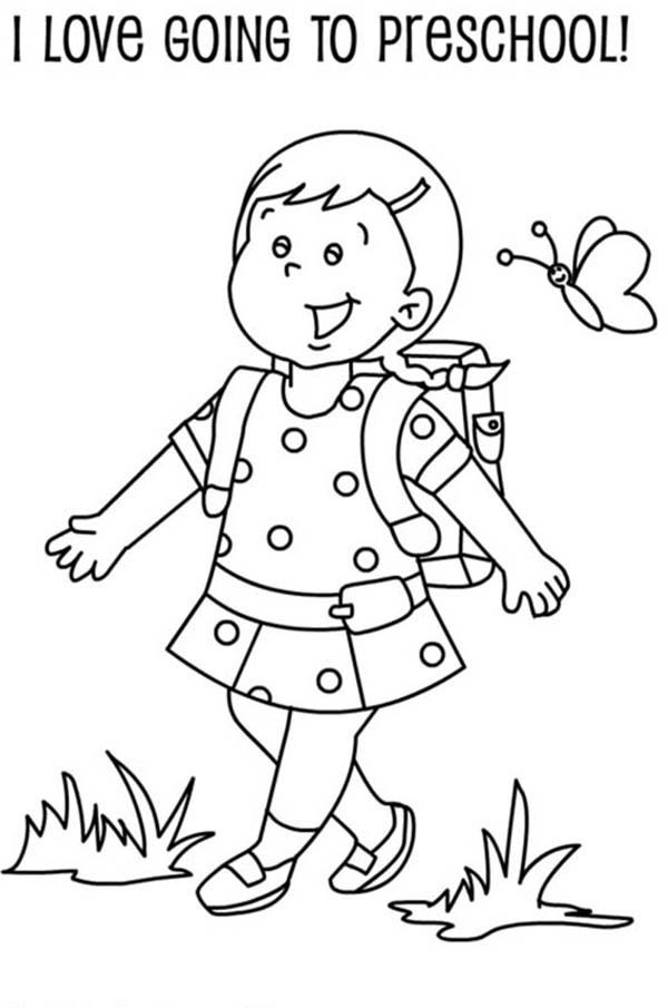 School Coloring Pages For Preschoolers