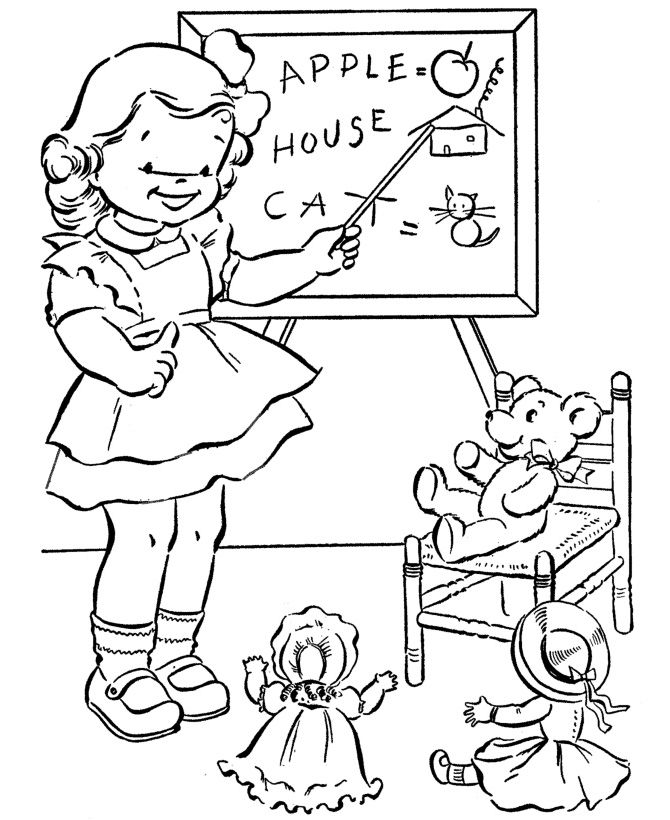 School Coloring Pages To Print