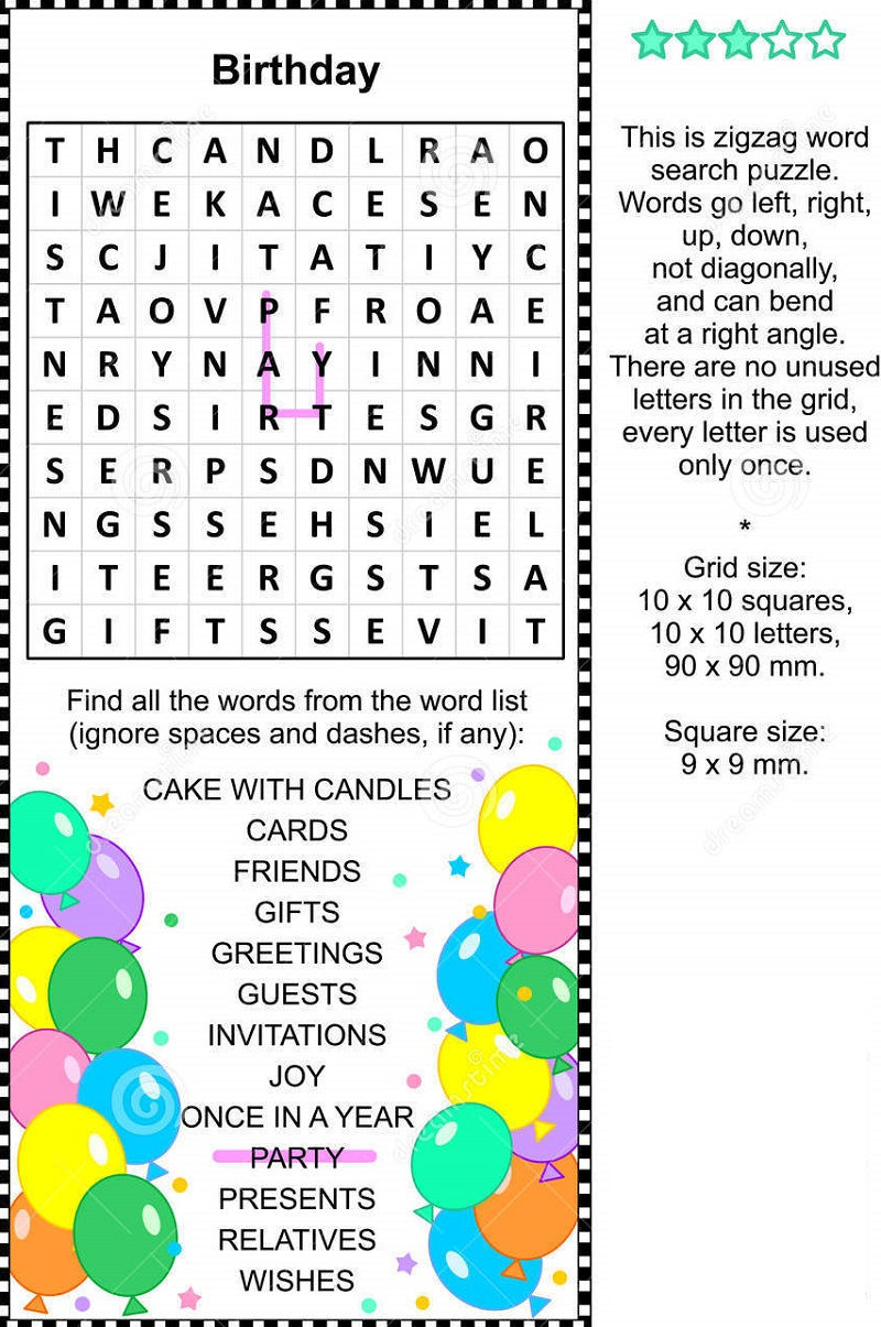 Search By Birthday Activity 001